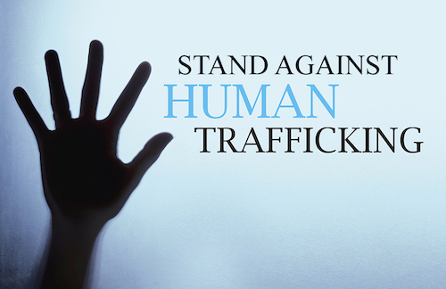 Let's stand together against human trafficking.